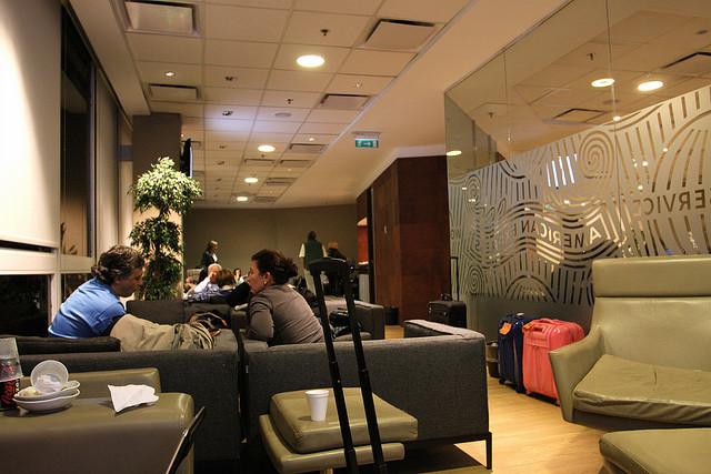 Aeroporto de Ezeiza, Lounge VIP Amex (Foto: TravelingOtter)