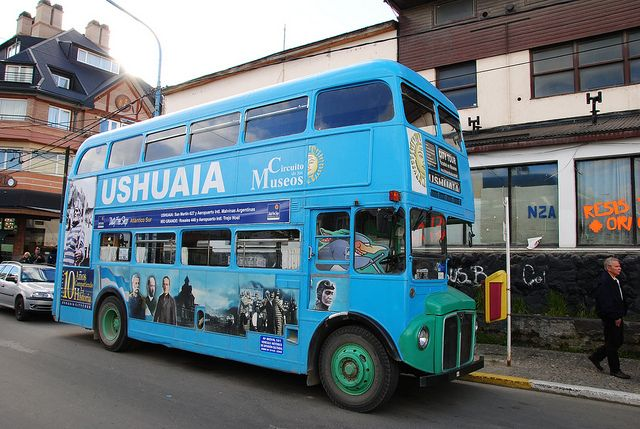 Ushuaia, bus turístico (Foto: Leandro's World Tour)