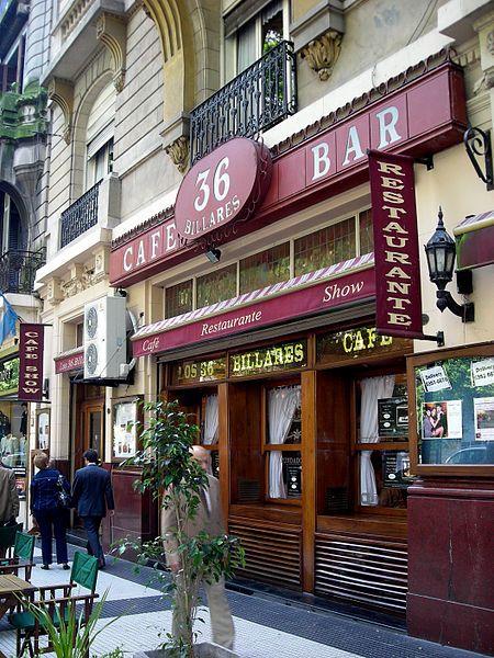 Bares notáveis de Buenos Aires , 36 Billares