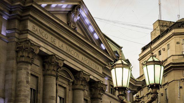 Câmbio em Buenos Aires, Banco Nación (Foto: Marcos Ferreira)