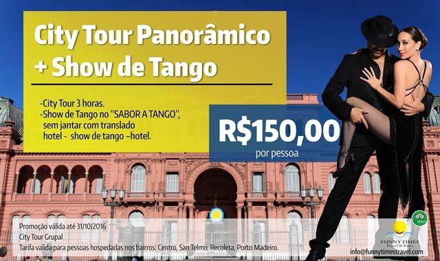 Promoções turísticas em Buenos Aires, tango e city tour