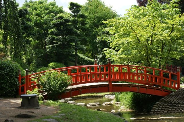Lua de mel em Buenos Aires, jardim japonês