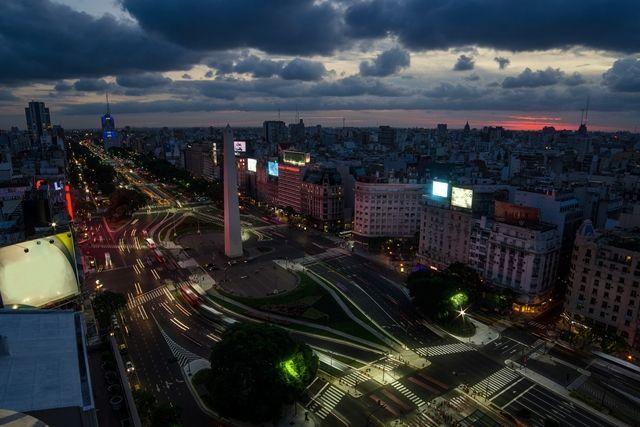 O inverno em Buenos Aires, cidade